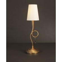 4655 stolní lampa s krémově bílým kónickým stínidlem, zlatý nátěr, 1x max. 40W