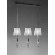 4965 svítidlo se třemi zavěšenými stínidly, lesklý chrom - bílá, 3x CF max. 13W + 3x G9/ max. 40W