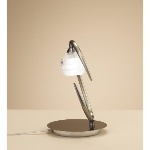 2937 stolní lampička, antická mosaz - sklo, 1x G9/ max. 40W