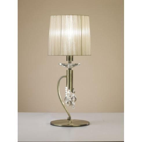 4998 stolní lampička, antická mosaz, 1x CF E14/max. 13W + 1x G9/33W