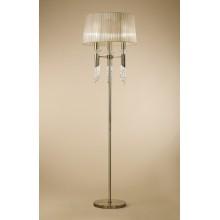 4999 elegantní stojací lampa, antická mosaz, 1x CF E14/max. 13W + 1x G9/33W