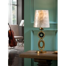 716153 stolní lampa s perleťovým stínidlem, zlatá, 1x E27/ max. 60W
