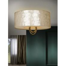 716478 stropní svítidlo se stínidlem v perleťové barvě, zlatá, 4x CF max. 20W