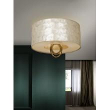 716583 stropní svítidlo se stínidlem perleťové barvy, zlatá, 3x E27/ CF max. 20W