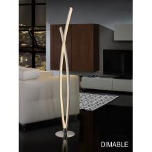 736210 stmívatelná stojací lampa LED, lesklý chrom - aluminium, 25,4W LED. 1.778 lm. 4.000 K