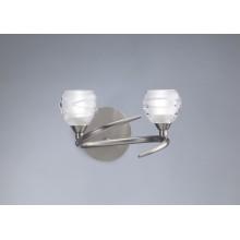 2925 nástěnné svítidlo, matný nikl (satin) - sklo, 2x G9/ max. 40W
