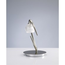 2927 elegantní stolní lampička, matný nikl (satin) - sklo, 1x G9/ max. 40W