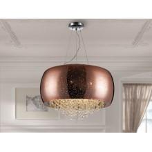 618859 závěsné svítidlo, chrom/měď, 6x LED g9/6W