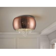 618271 stropní svítidlo, chrom/měď, 5x LED G9/6W
