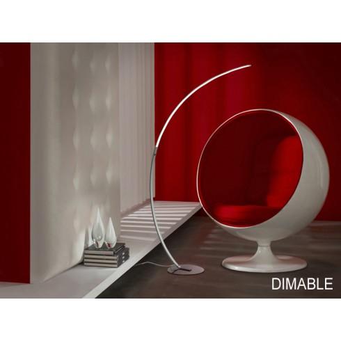 825306 stojací lampa - stmívatelná, chrom, LED 21W - 4000K - 1680lm
