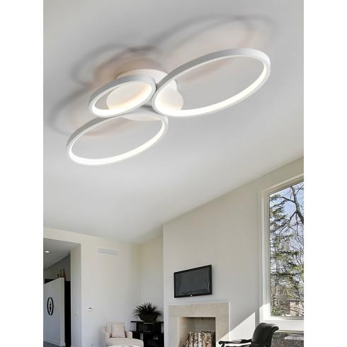518394 bílé odsazené stropní svítidlo, 36W - 3000K - 1850lm